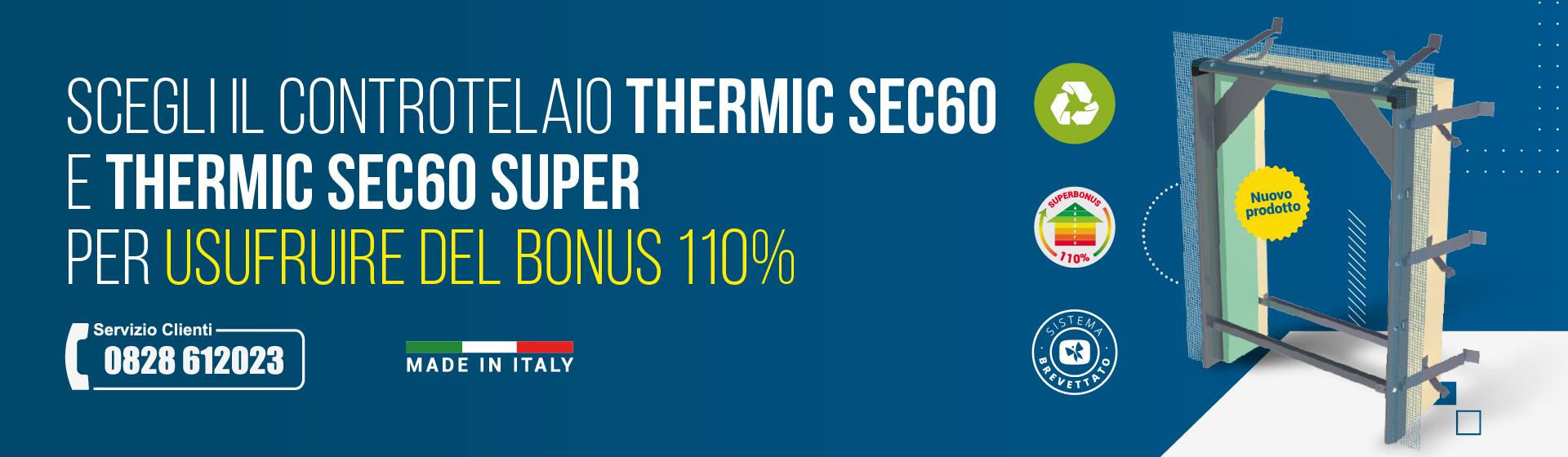 Thermic Sec60 – Controtelaio a Taglio Termico